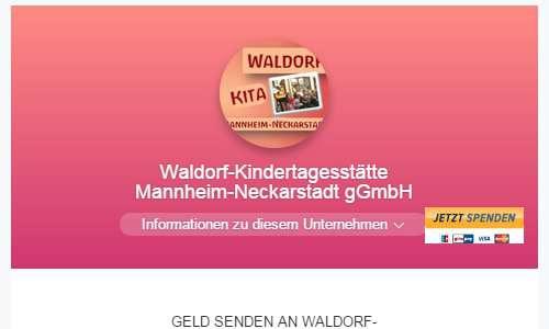 Spende an Waldorf Kita Mannheim
